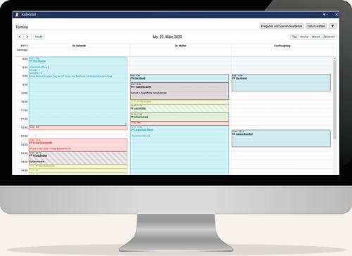 Praxismanager UI in desktop