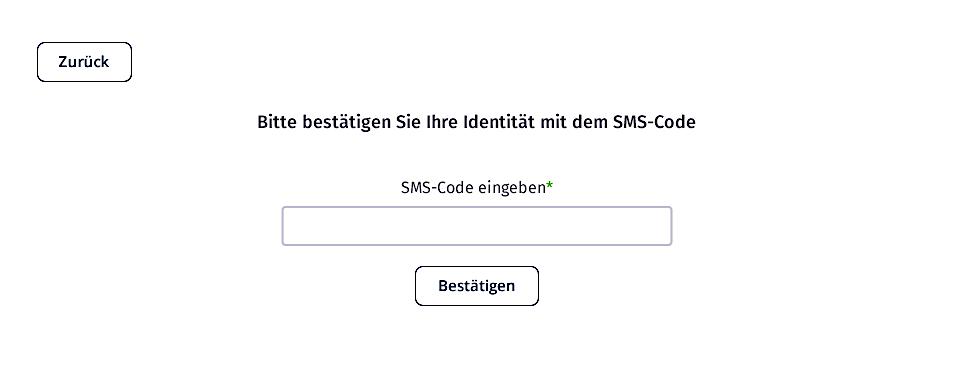 SMS Verifizierung